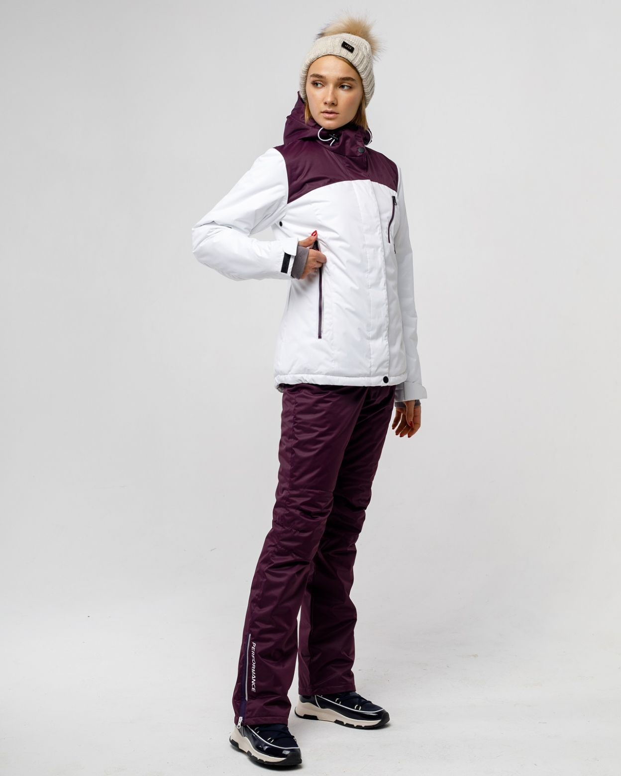 Зимний белый костюм HEIDEN вид3