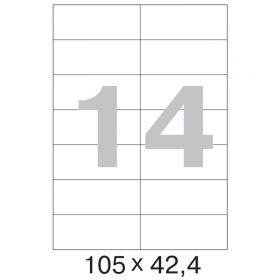 73623 / 641806 Этикетки самоклеящиеся MEGA LABEL 105х42,4 мм / 14 шт. на листе А 4 (100 листов в пачке)