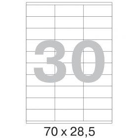 73638 / 641818 Этикетки самоклеящиеся Mega label белые 70x28.5 мм (30 штук на листе А4, 100 листов в упаковке)