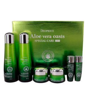 DEOPROCE Aloe Vera Oasis Special Care 4 Set - Уходовый набор с экстрактом алоэ вера