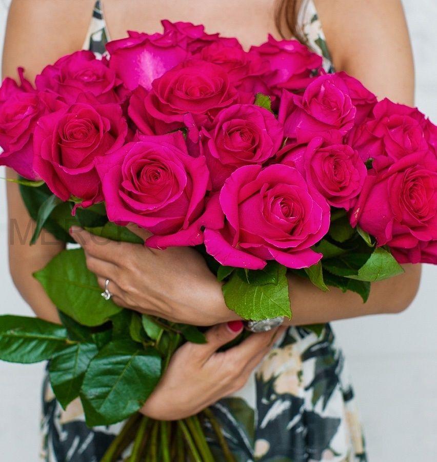 Букет из роз 25 шт, Эквадор (розовые)