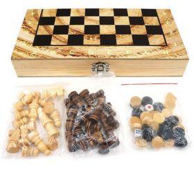 """Игра """"Шахматы, шашки, нарды"""" в коробке"""
