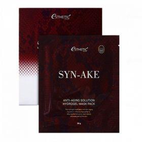 ESTHETIC HOUSE Syn-Ake Anti-Aging Solution Hydrogel Mask Pack 30g - Гидрогелевые маски со змеиным пептидом