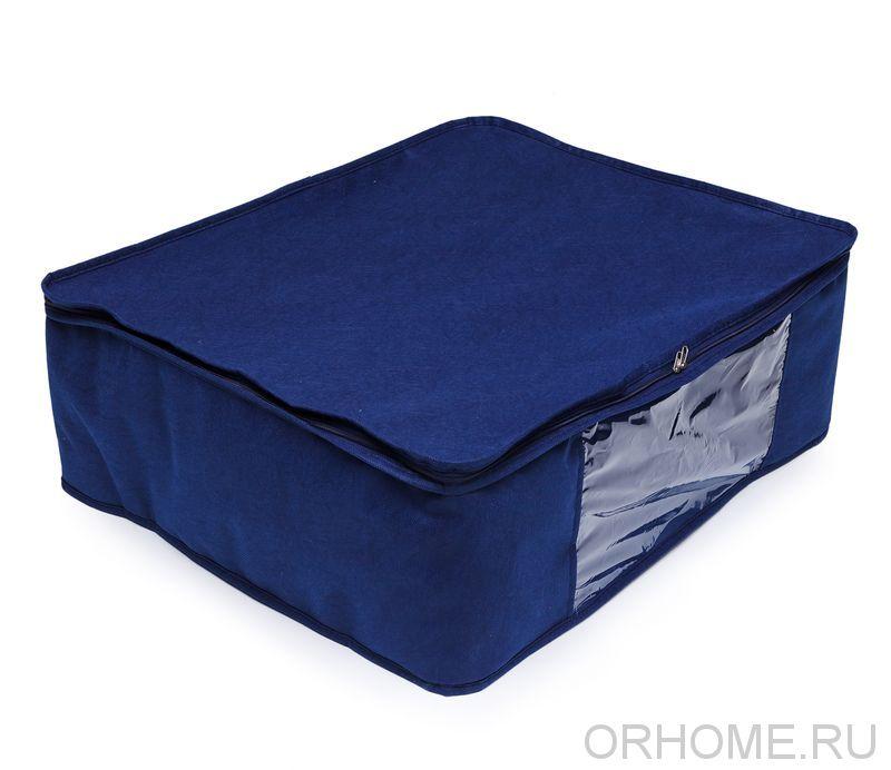 Чехол с прозрачной вставкой, для хранения одеял, подушек, вещей