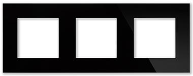 Рамка черная CGSS P103 BC (без механизмов)