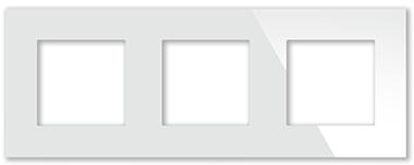 Рамка белая CGSS P103 WC (без механизмов)