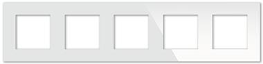 Рамка белая CGSS P105 WC (без механизмов)