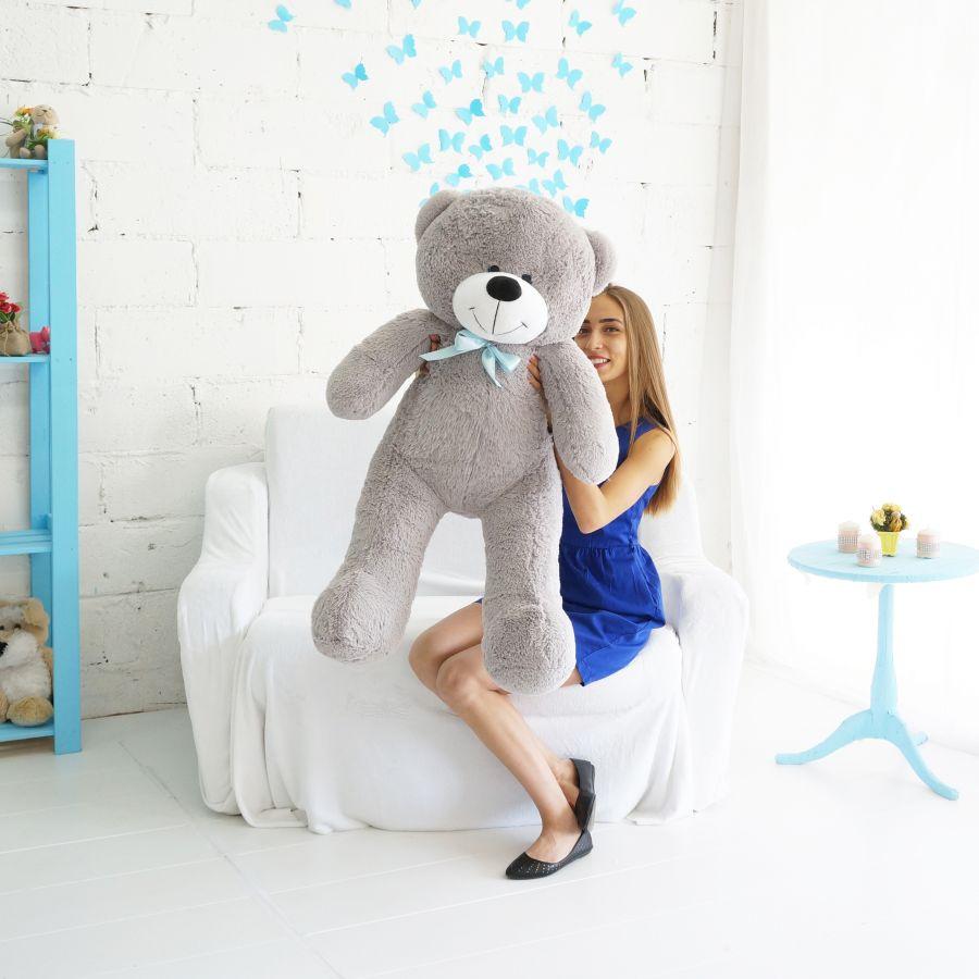Мишка Федор ОР-125см Длина-105см Серый