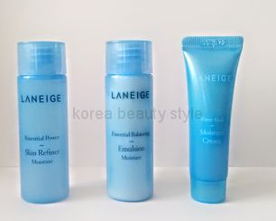 Laneige 3  miniset- набор из 3 средств для ухода за кожей в формате  миниатюр  от  Laneige