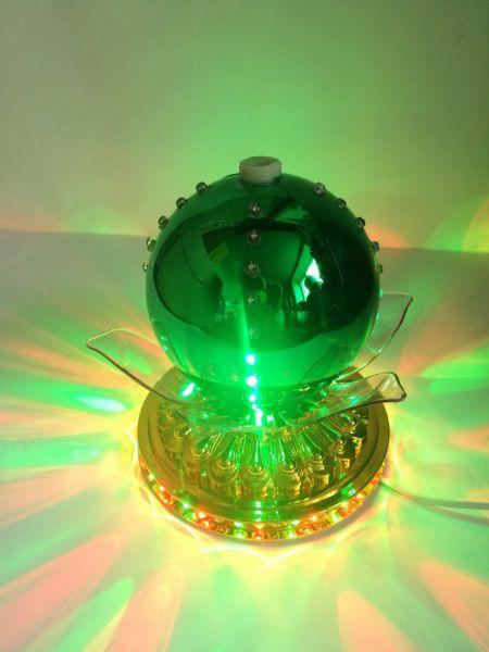 LED-светильник Лотос с шаром цветной 14 см, Зеленый