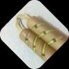 ₪ Нунчаку прямые с оловянными вставками (обработка воск) ₪