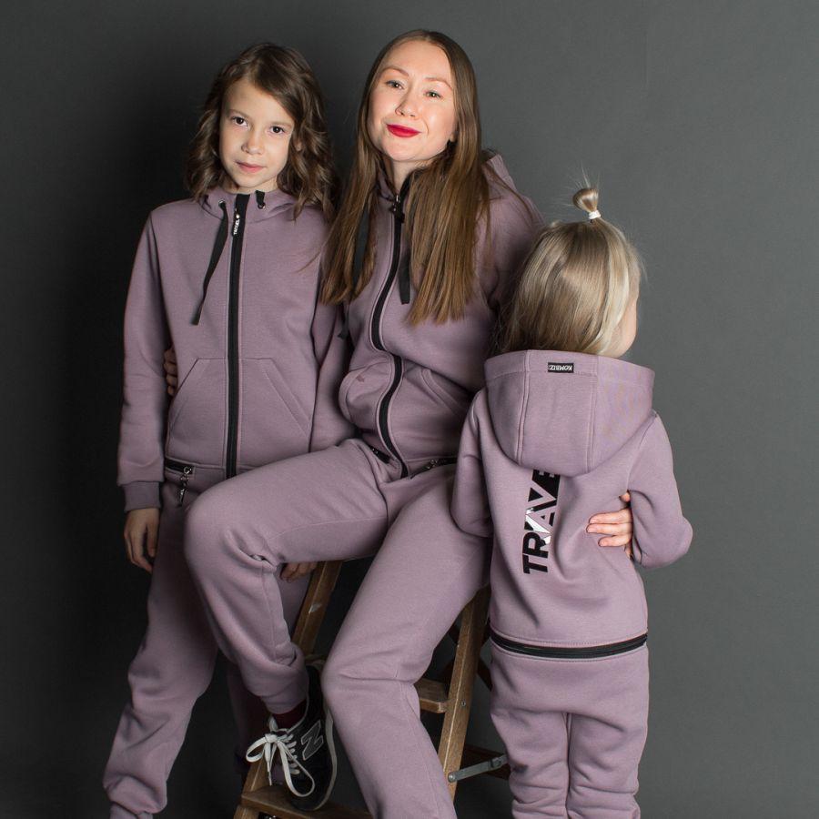 Комбинезон утепленный TRAVEL FOR MOM, пурпурный