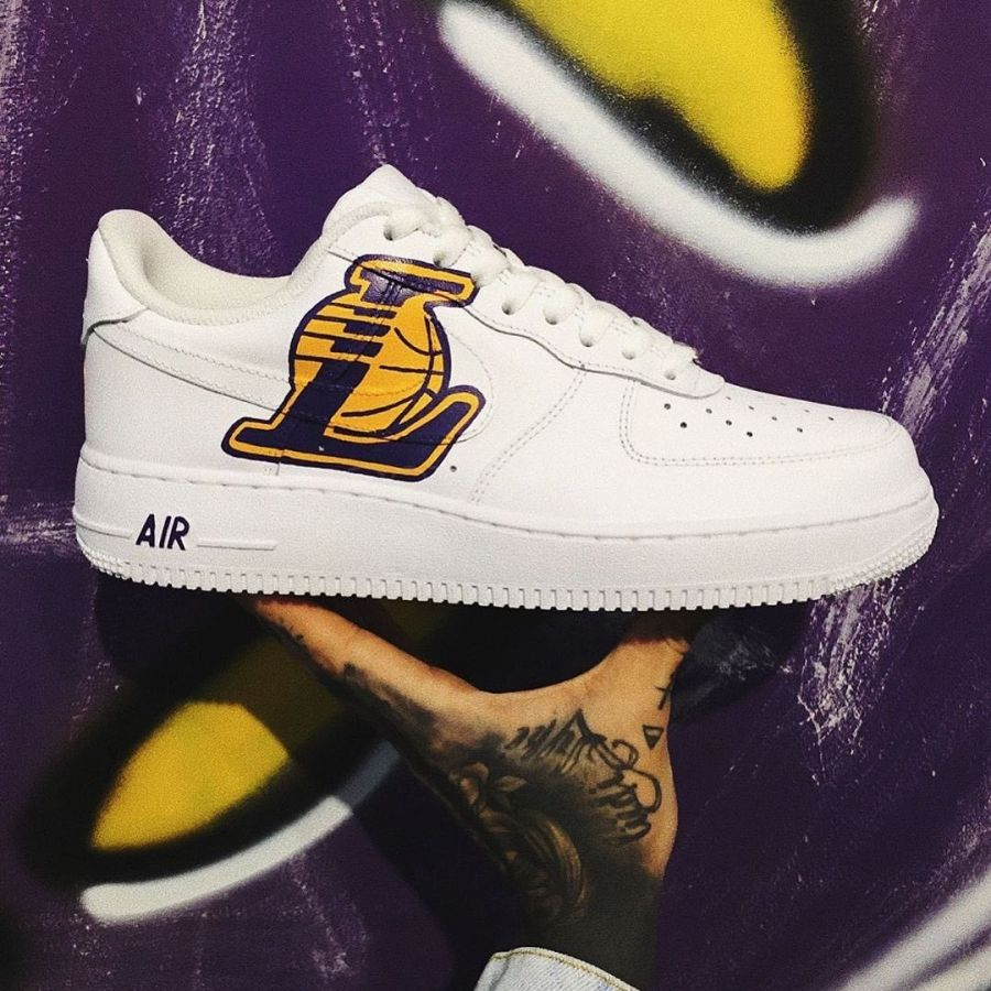 Nike Air Force 1 low Custom Lakers 34