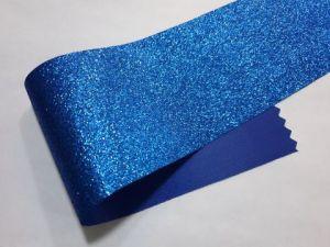 Глиттерная ткань (ткань с блёстками), синяя