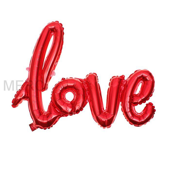 Надпись LOVE, красный