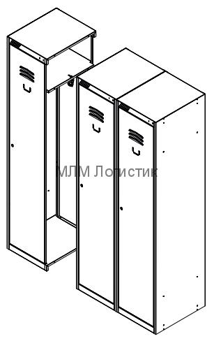 Металлические шкафы для одежды серии ШРС-11