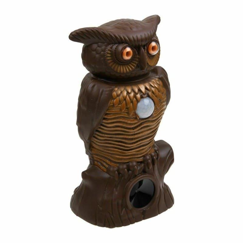 Ультразвуковой садовый отпугиватель вредителей с датчиком движения и LED-подсветкой Owl Alert