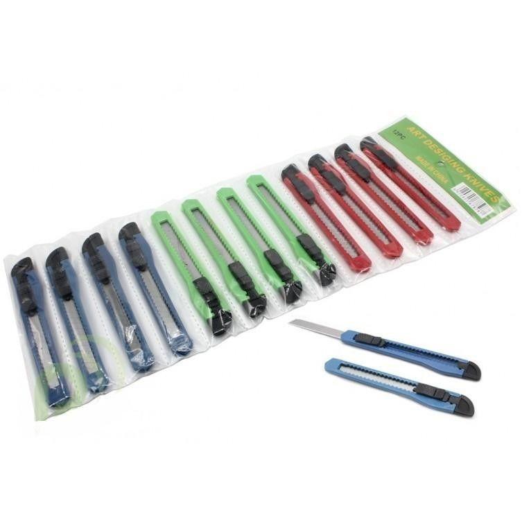 Канцелярский нож Art Desiging Knives, 12 шт