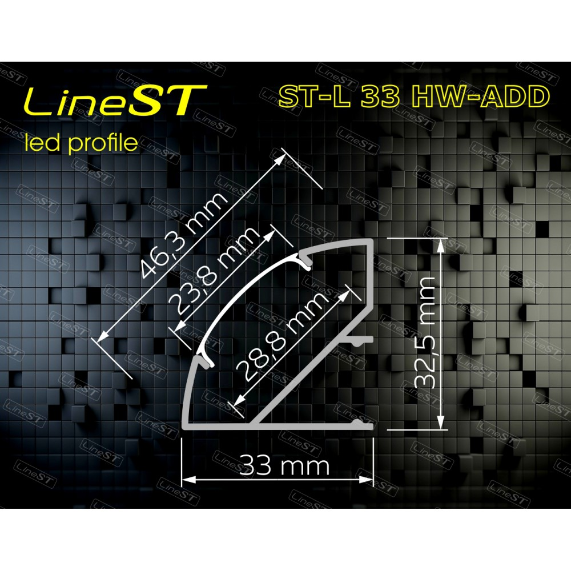 Профиль угловой ST-L33 HW-ADD