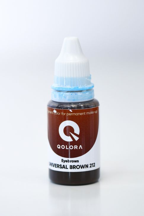 Пигменты QOLORA Eyebrows Universal Brown 212