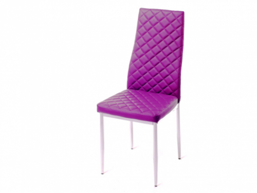 F261 фиолетовый ромб CHANEL (хром)