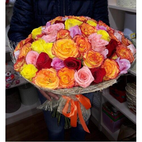 49 эквадорских роз (микс)