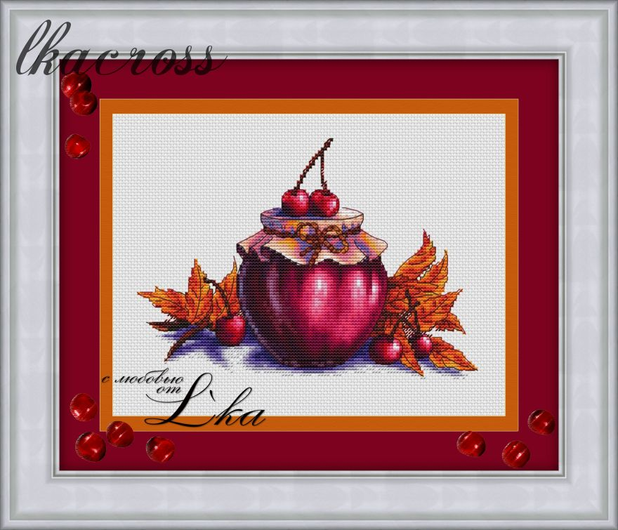 """Warm jam"". Digital cross stitch pattern."