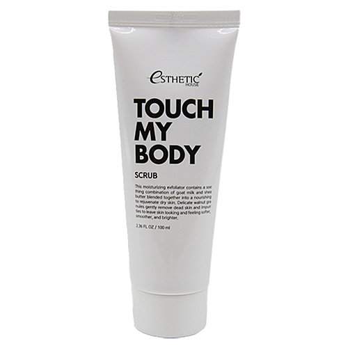 Esthetic House Скраб для тела на основе козьего молока - Touch my body goat milk body scrub, 100мл