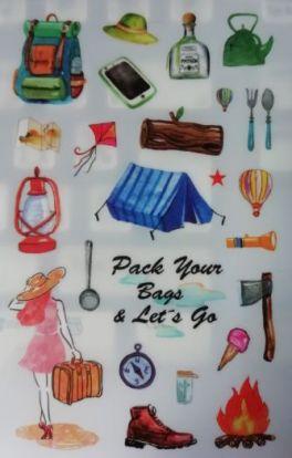 """Виниловые наклейки для открыток или дневника. """"Путешествие"""""""