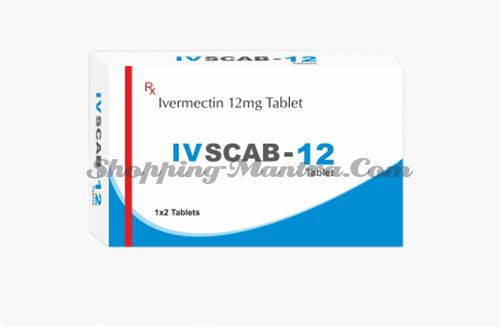Ивскаб(ивермектин 12мг) антипаразитарный препарат Ethinext Pharma Ivscab Ivermectin 12mg 2 Tablets