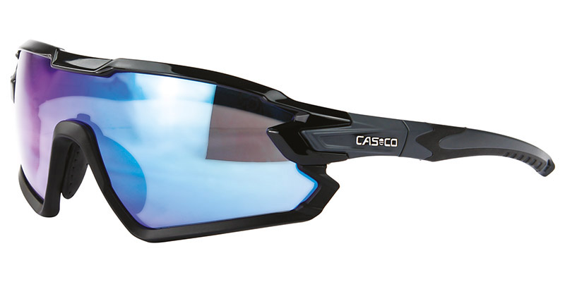 очки casco sx-34 carbonic black-blue mirror