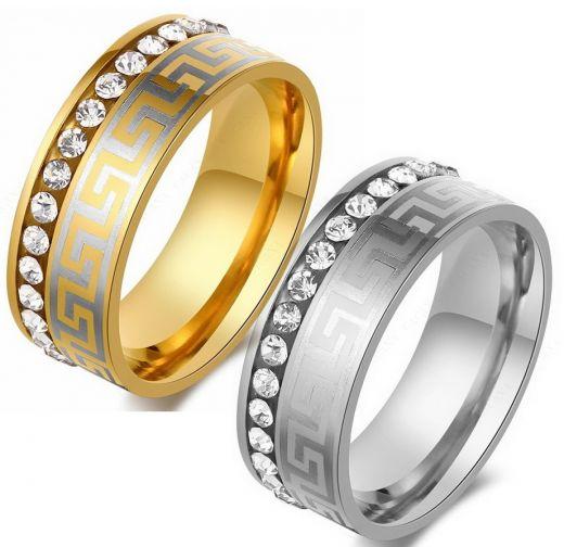 Парные кольца с орнаментом Versace