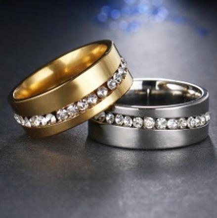 Парные кольца с цирконами