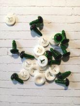 ГЛАЗА для игрушек С ЗАГЛУШКАМИ диаметр 10 мм материал пластик ЦВЕТ НА ВЫБОР цена за пару