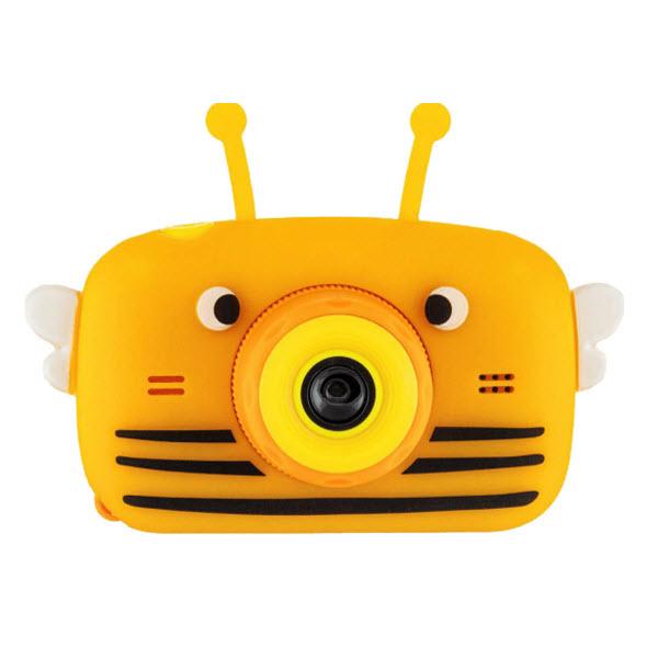 Детский цифровой фотоаппарат с селфи камерой. Пчела. Цвет: Оранжевый