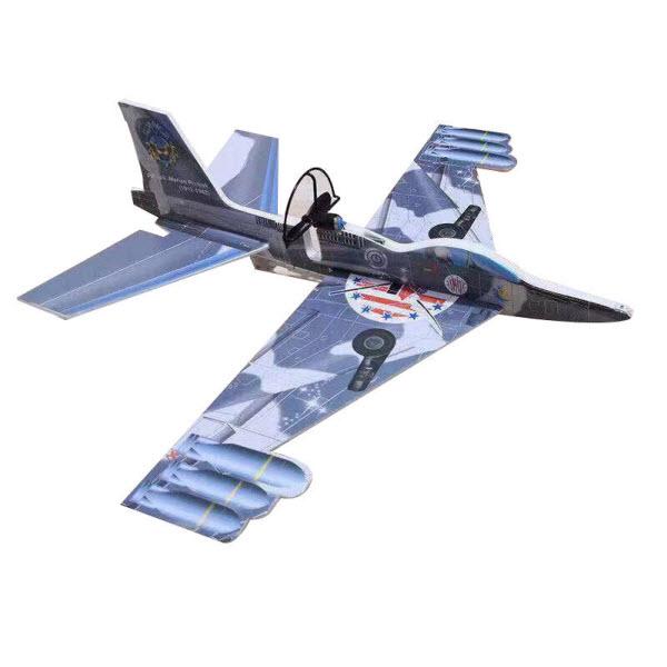 Сборный самолет-истребитель с автономным мотором, Цвет: Синий