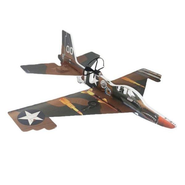 Сборный самолет-истребитель с автономным мотором, Цвет: Коричневый