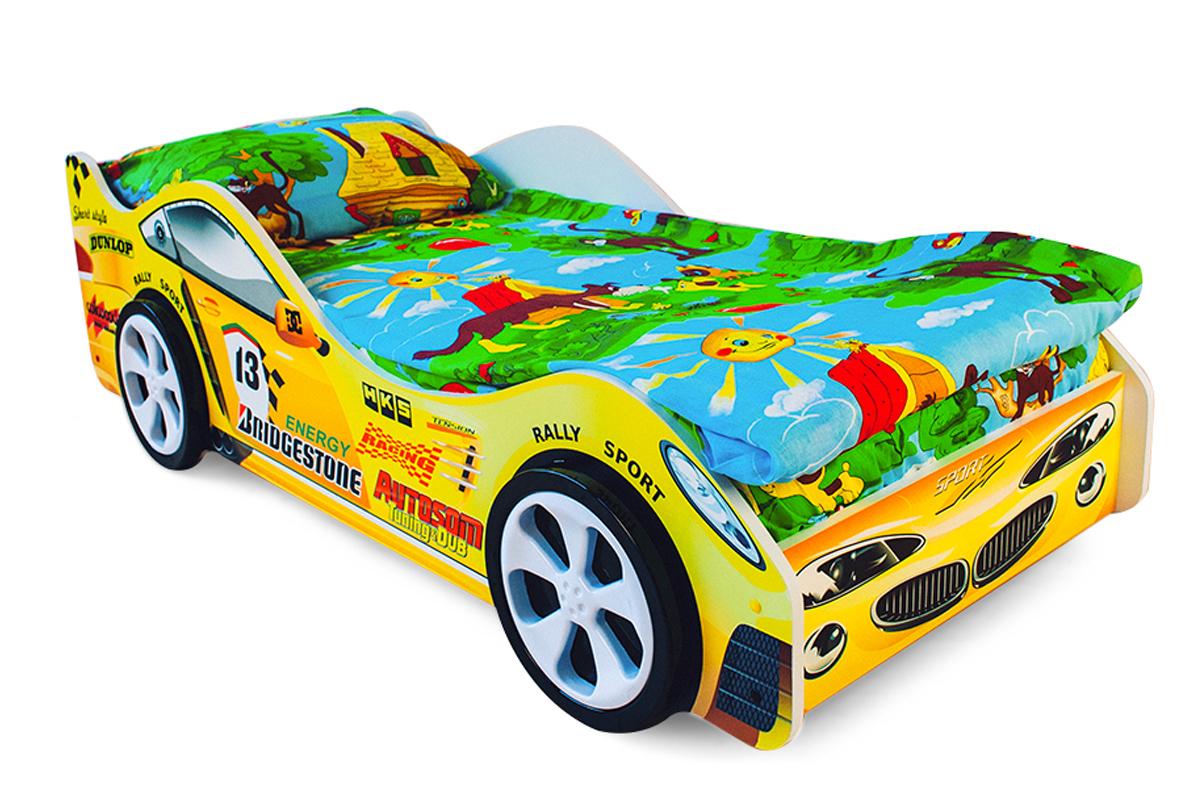 Детская кровать-машина Пламя