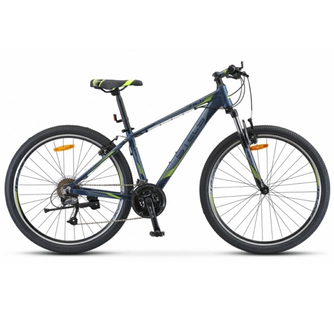Велосипед Stels 27,5 горный Navigator 710 V (2019) скоростей 21 рама 17 темно-синий