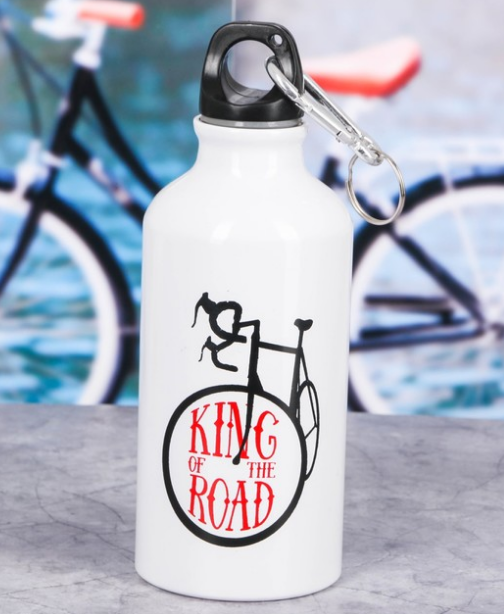 Бутылка  «King of the road» с велосипедным держателем 400 мл
