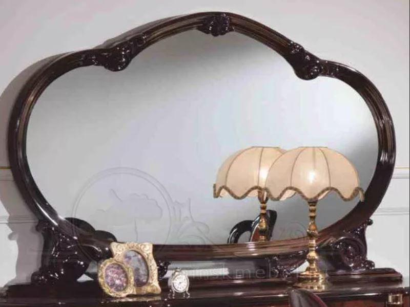 Зеркало в раме Роза цвет: орех глянец, могано глянец, беж глянец