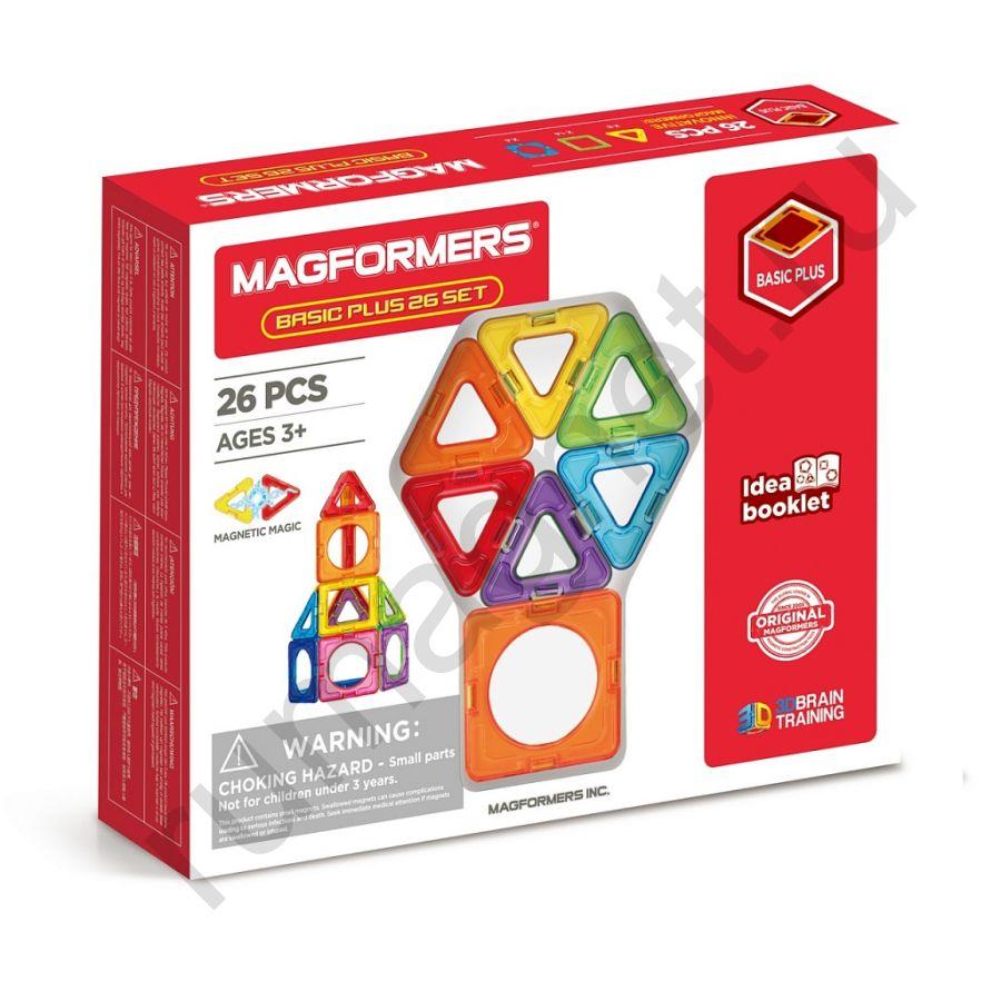 Магнитный конструктор MAGFORMERS 715014 Basic Plus 26 Set