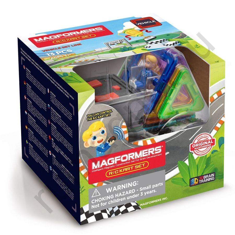 Магнитный конструктор MAGFORMERS 707018 RC Kart Set 13PC