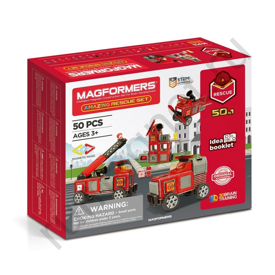 Магнитный конструктор MAGFORMERS 717003 Amazing Rescue Set