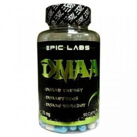 Предтренировочный комплекс DMAA (герань) от Epic Labs 70 мг 90 капсул