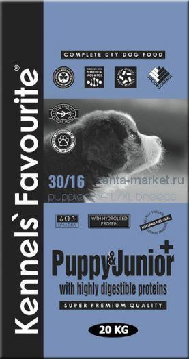 Kennels` Favourite Puppy & Junior + 20 кг.