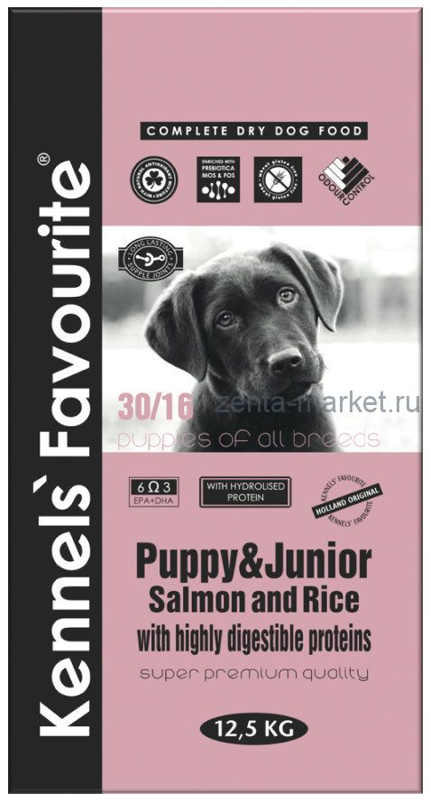 Kennels` Favourite Puppy & Junior. Лосось и Рис 3 кг, 12.5 кг, 20кг