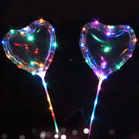 Светящийся led шар BOBO, Сердце