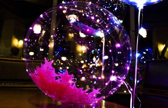 Светящийся led шар BOBO, круглый с наполнителем