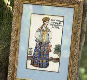 """Схема для вышивания крестиком """"Вологодская девушка"""". Отшив."""